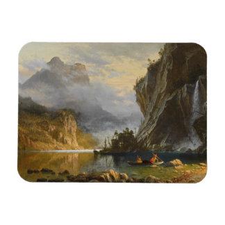 Albert Bierstadt - pesca de la lanza de los indios Imanes Rectangulares