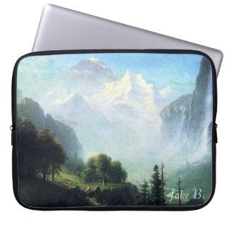 Albert Bierstadt staubbach falls near... Computer Sleeve