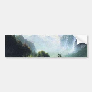 Albert Bierstadt  staubbach falls near lauterbru Bumper Sticker