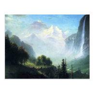 Albert Bierstadt  staubbach falls near lauterbru Post Card