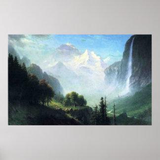 Albert Bierstadt  staubbach falls near lauterbru Poster
