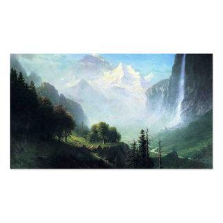 Albert Bierstadt staubbach falls near lauterbrunne Business Card