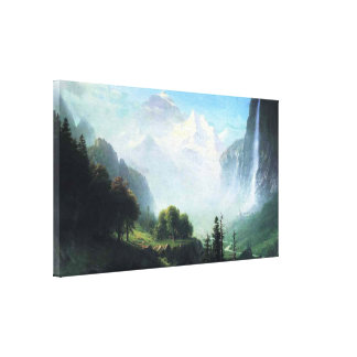 Albert Bierstadt staubbach falls near lauterbrunne Canvas Print