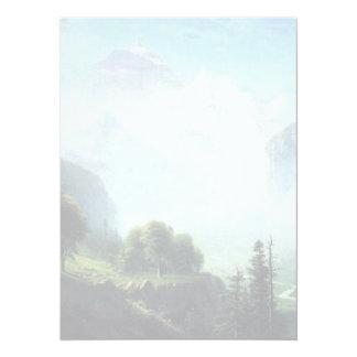 Albert Bierstadt staubbach falls near lauterbrunne Card