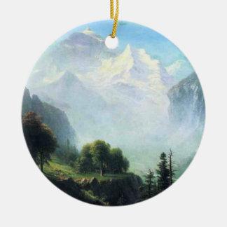 Albert Bierstadt staubbach falls near lauterbrunne Ceramic Ornament
