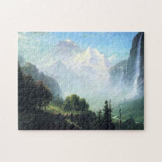 Albert Bierstadt staubbach falls near lauterbrunne Jigsaw Puzzle