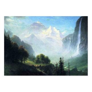 Albert Bierstadt staubbach falls near lauterbrunne Large Business Card