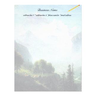 Albert Bierstadt staubbach falls near lauterbrunne Letterhead
