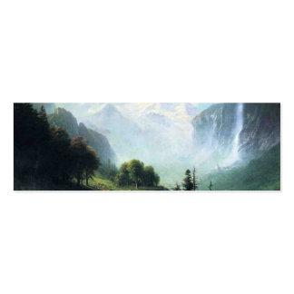 Albert Bierstadt staubbach falls near lauterbrunne Mini Business Card