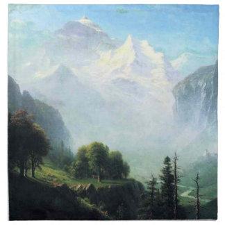 Albert Bierstadt staubbach falls near lauterbrunne Napkin