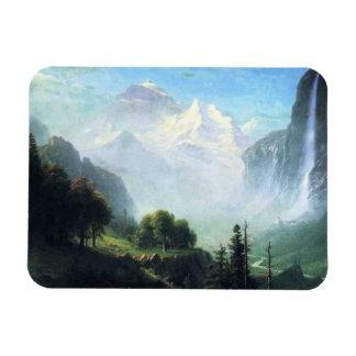 Albert Bierstadt staubbach falls near lauterbrunne Rectangular Photo Magnet