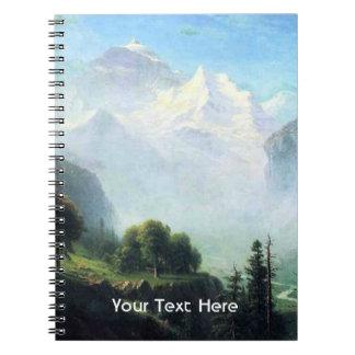 Albert Bierstadt staubbach falls near lauterbrunne Spiral Notebook