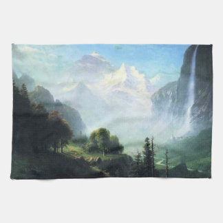 Albert Bierstadt staubbach falls near lauterbrunne Towels