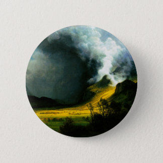Albert Bierstadt Storm in The Mountains Button