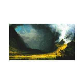 Albert Bierstadt Storm in The Mountains Canvas Print