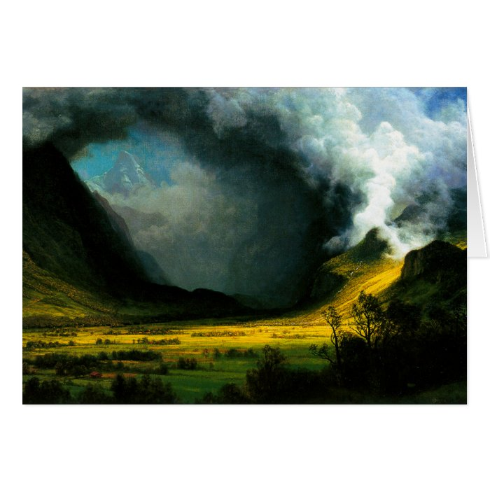 Albert Bierstadt Storm in The Mountains Card