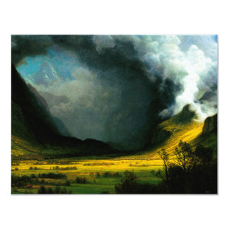 Albert Bierstadt Storm in The Mountains Invitation