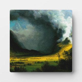 Albert Bierstadt Storm in The Mountains Plaque
