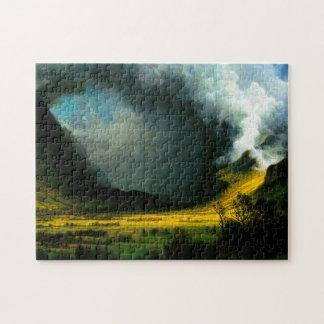 Albert Bierstadt Storm in The Mountains Puzzle