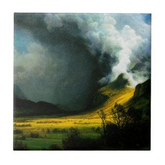 Albert Bierstadt Storm in The Mountains Tile