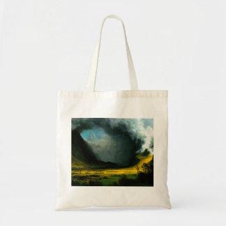 Albert Bierstadt Storm in The Mountains Tote Bag