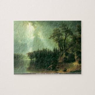 Albert Bierstadt - Storm over the Sierra Nevada Jigsaw Puzzles
