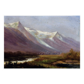 Albert Bierstadt Study of Mountains Poster