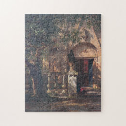 Albert Bierstadt - Sunlight and Shadow 1862 Jigsaw Puzzle