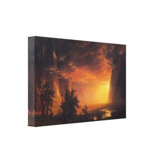 Albert Bierstadt - Sunrise in Yosemite Valley Gallery Wrap Canvas