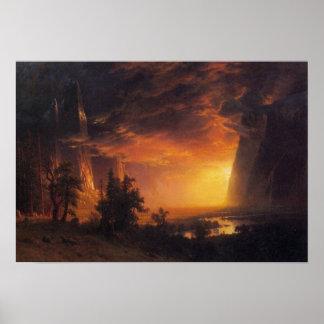 Albert Bierstadt-Sunrise in Yosemite Valley Poster