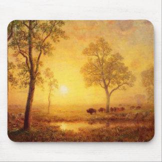 Albert Bierstadt - Sunset On The Mountain Mouse Pad