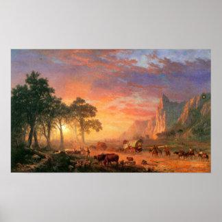 Albert Bierstadt-The Oregon Trail Poster