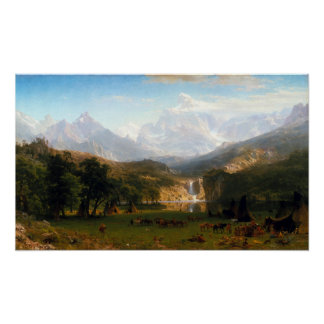 Albert Bierstadt The Rocky Mountains, Lander's Pea Poster