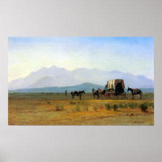 Albert Bierstadt-The stagecoach in the Rockies Poster