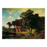 Albert Bierstadt, un molino rústico Posters