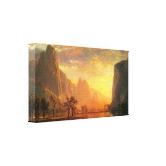 Albert Bierstadt - Valley in Yosemite Canvas Print