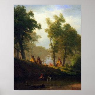 Albert Bierstadt-Wolf River, Kansas Poster