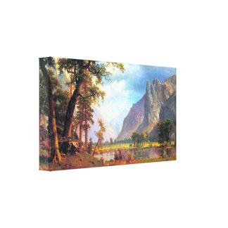 Albert Bierstadt - Yosemite Valley 2 Gallery Wrapped Canvas