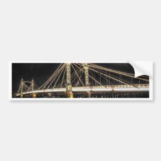 Albert Bridge crosses the River Thames London Bumper Sticker
