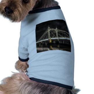 Albert Bridge crosses the River Thames, London Doggie Shirt