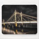 Albert Bridge crosses the River Thames, London Mousepad