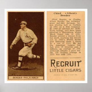 Albert Chief Bender Baseball 1912 Poster
