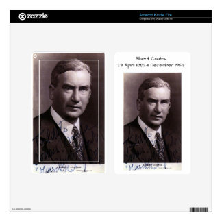 Albert Coates Decal For Kindle Fire