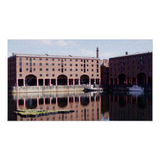 Albert Dock Liverpool Watercolor Print