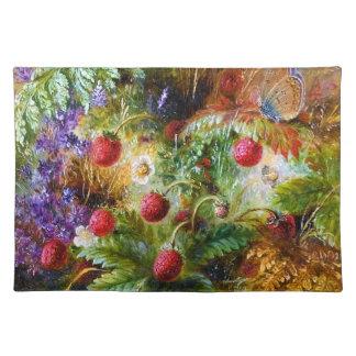 Albert Dürer Lucas: Fresas salvajes y mariposa Mantel