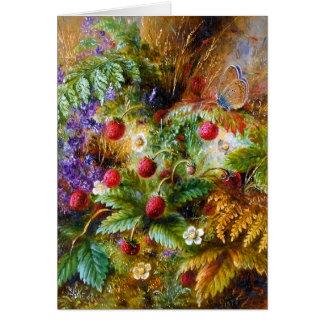 Albert Dürer Lucas: Wild Strawberries & Butterfly Greeting Card