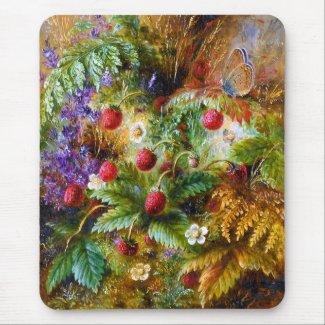 Albert Dürer Lucas: Wild Strawberries and Butterfly