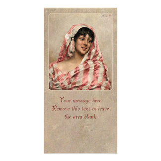 Albert Edelfelt Laughing model with a cloth CC0165 Card