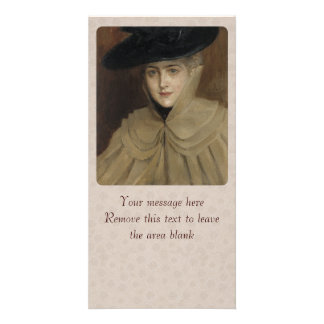 Albert Edelfelt Woman with a black hat CC0166 Card
