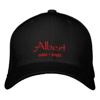 Albert Embroidered Cap / Hat Baseball Cap